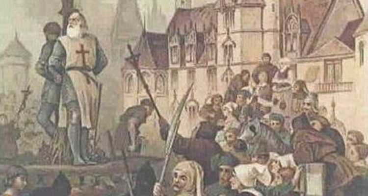 Jacques de Molay na fogueira