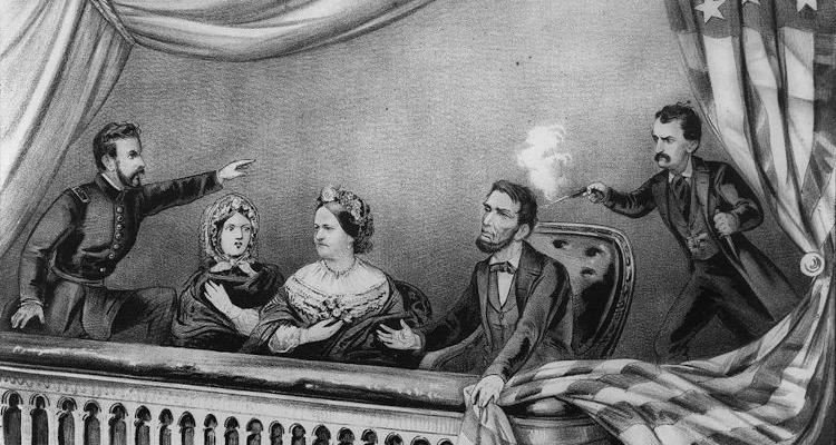 Abraham Lincoln assassinado no teatro