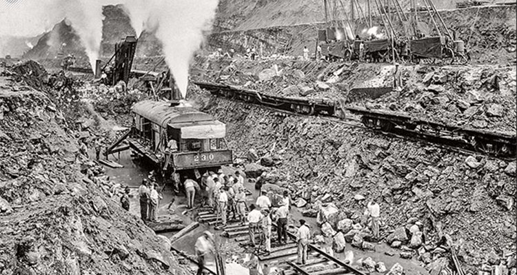 Construção do canal do Panamá